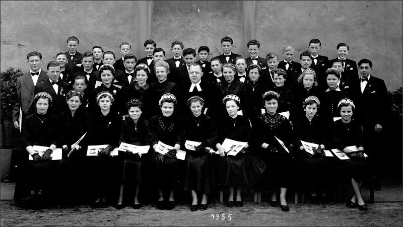 Konfirmation in Altriip im Jahr 1955