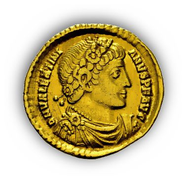Goldsolidus des Kaisers Valentinian I. (321-375)